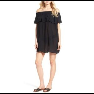 Women's Black Off The Shoulder Cover-up Dress